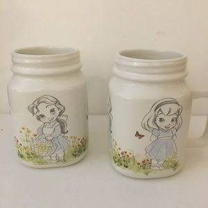 Disney Animators Collection Series Mason Jar Mugs